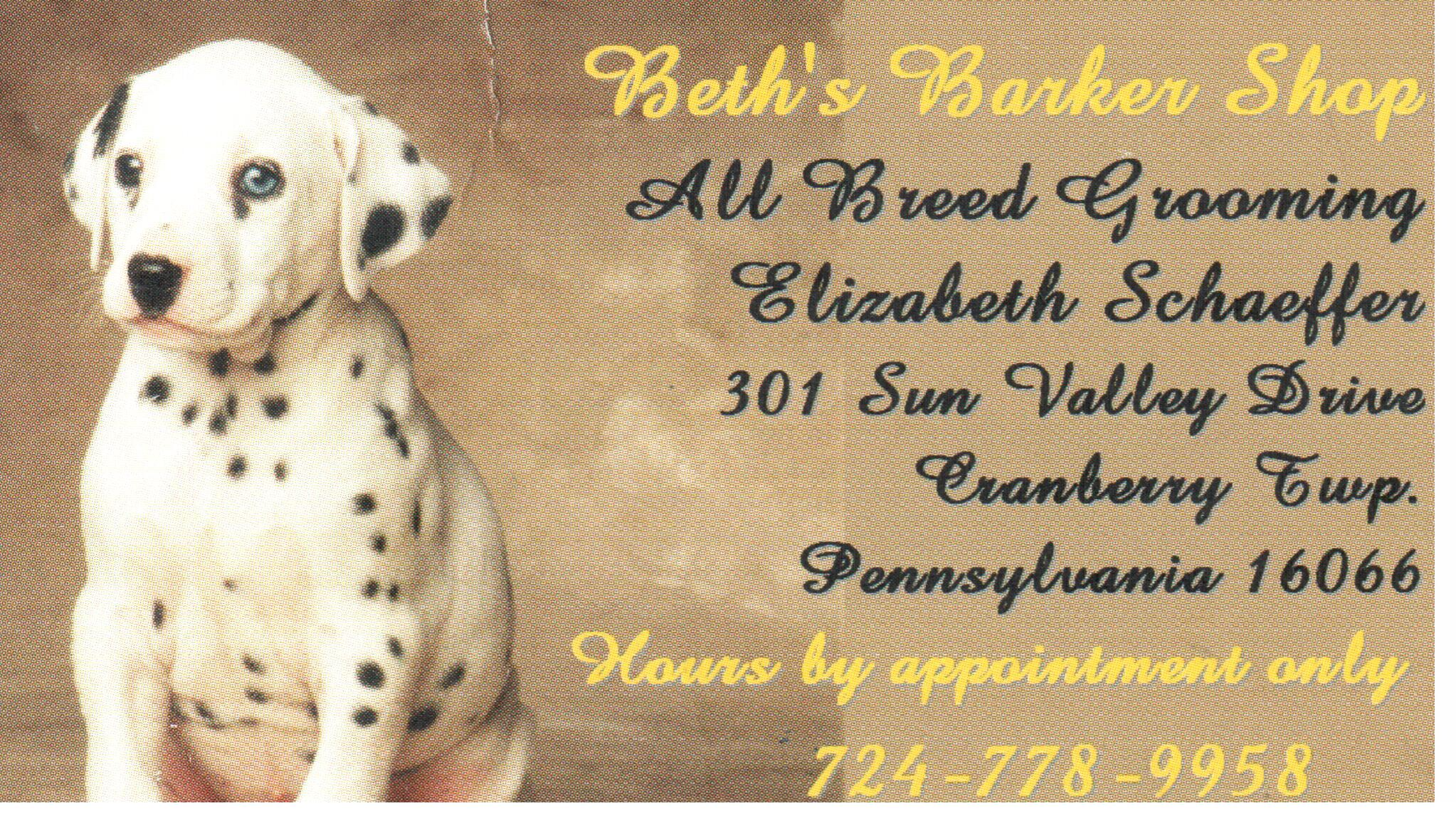 Beth's Barker Shop, Cranberry Township